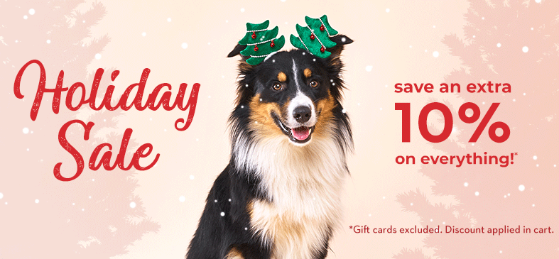 Holiday Sale. Save an extra 10% on everything!* Gift cards excluded. Discount applied in cart.