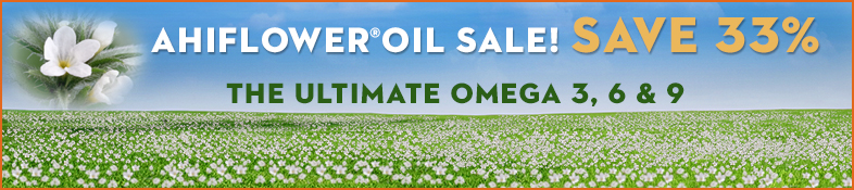 Ahiflower Oil® Sale! Save 33%!