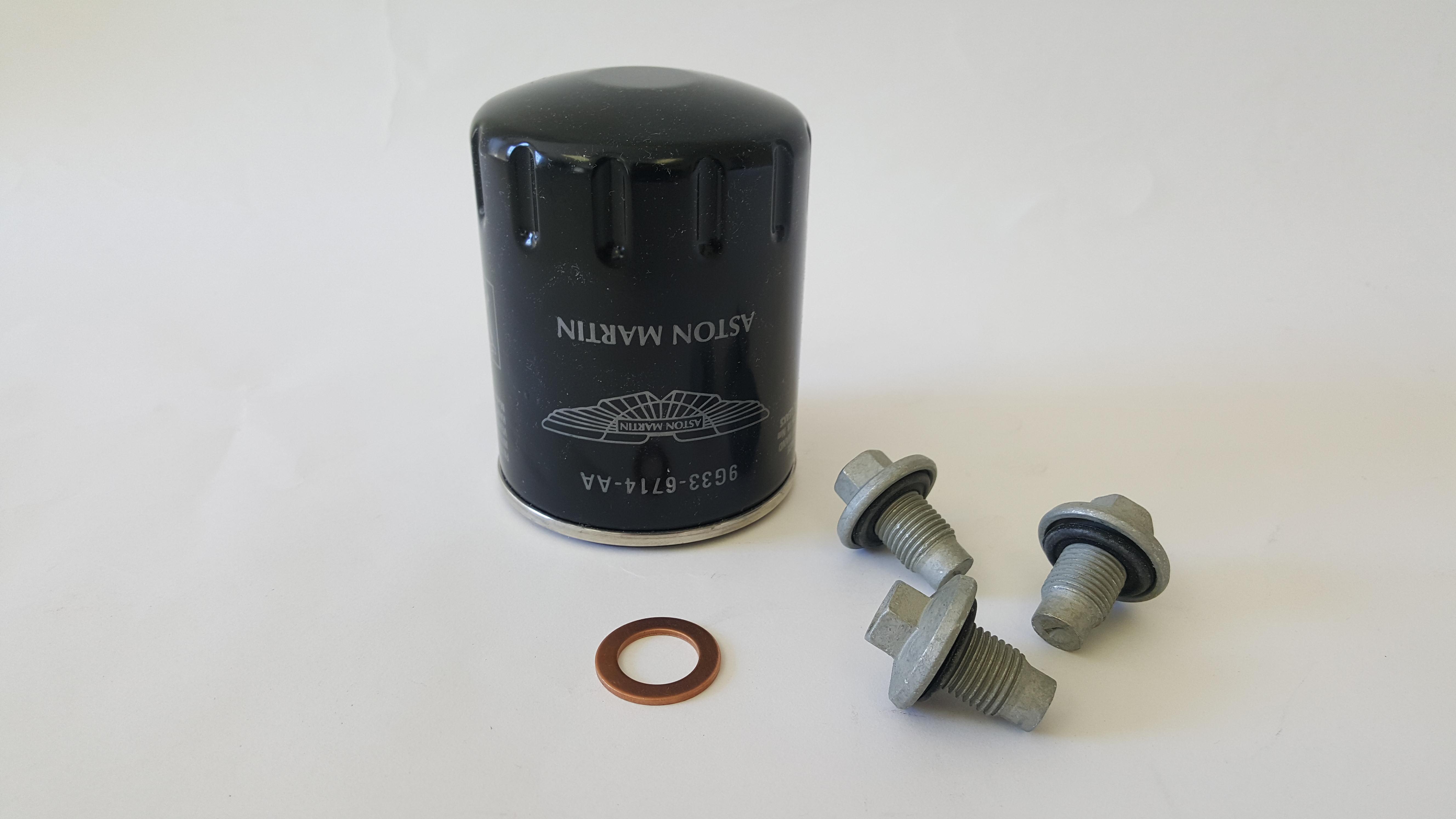 Aston Martin V8 Vantage & Vantage Roadster - V8 Oil Filter Kit (Factory/OEM) 4.7L