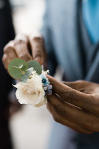 Handling the corsage