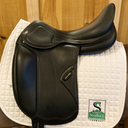 "Amerigo Pasubio Dressage Saddle-18""-+1.5-Black"