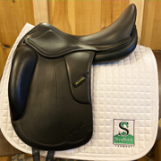 "Vega Dressage Saddle-17.5""- +1.5-Black"