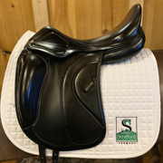"Amerigo Classic Dressage Saddle-18""-Medium-Black"