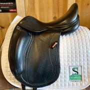 """Equipe Olympia Dressage Saddle-17""""-M +2-Black"""
