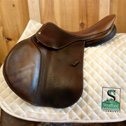 "Devocoux Biarritz Jump Saddle-17.5""-MediumNarrow-Brown"