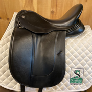 "Frank Baines Aires De Haute Dressage Saddle-17""-Medium-Black"