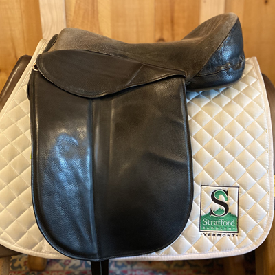 "Treeless Dressage Saddle-18""-Black"