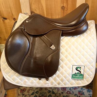 """Bates Elevation DS RF Saddle-17.5""""-Adjustable-Brown"""