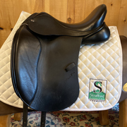 "Adam Ellis The Brio Dressage Saddle-17""-Medium-Black"