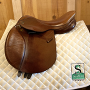 "Beval Gladstone Jump Saddle-16""-MediumWide-Brown"