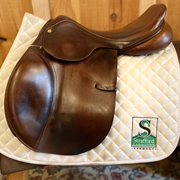 """County Pro Fit Jump Saddle-17.5""""-Narrow-Brown"""