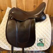 "Frank Baines Aires De Haute Dressage Saddle-17""-MediumWide-Brown"