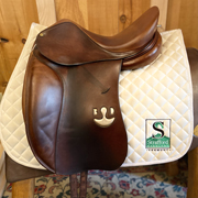 "Bruno Delgrange Dressage Saddle-17""-MediumWide-Brown"