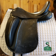"Woflganf Solo Dressage Saddle-17.5""-Medium-Black"