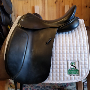 "Barnsby Dressage Saddle-18""-Medium-Black"