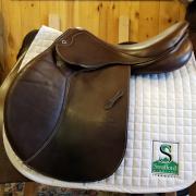 "Stubben Portos Jump Saddle-17.5""-29cm-Brown"