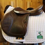"""Ovation SanDiego Jump Saddle-18""""-Adjustable-Brown"""