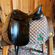 """Kieffer Lusitano Dressage Saddle-17.5""""-1N-Black"""