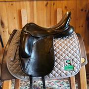 """Custom Icon Eclipse Dressage Saddle-17.5""""-MediumWide-Black"""
