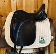 "Takt Saddlery TSD-10 Dresage Saddle-17.5""-Wide-Black"