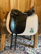 "Schleese Dressgae Saddle-18""-Wide-Black"