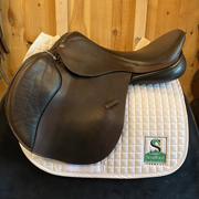 "Advanced Saddle Fit Jump Saddle-19""-MediumWide-Brown"