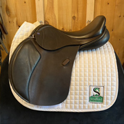 "Advanced Saddle Fit Jump Saddle-17""-Wide-Brown"