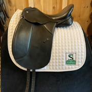 """Collegiate Dressage Saddle-16.5""""-Medium-Balck"""