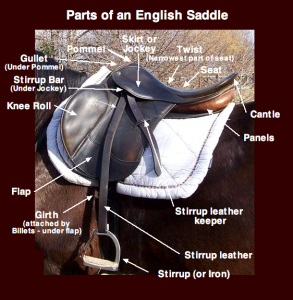 English Saddle Parts