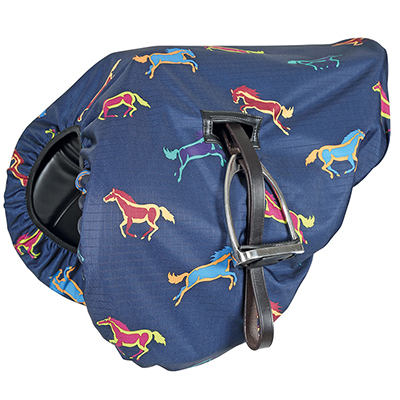 Shires Printed Waterproof Saddle Cover
