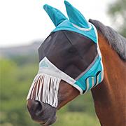 Shires Fine Mesh Fly Mask w/Ears&Nose Fringe