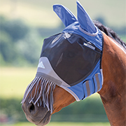 Shires Deluxe Fly Mask w/Nose Fringe