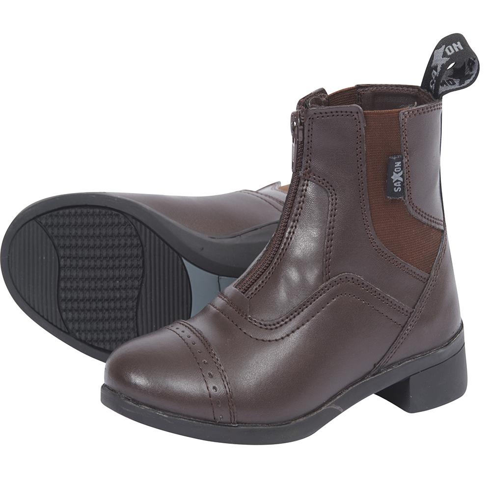Saxon Unisex Syntovia Zip Paddock Boots