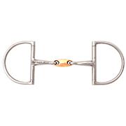 JP Korsteel Stainless Steel Copper Link Hunter Dee Ring Snaffle