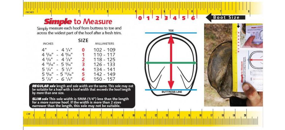 Cavallo Trek Boot Size Chart