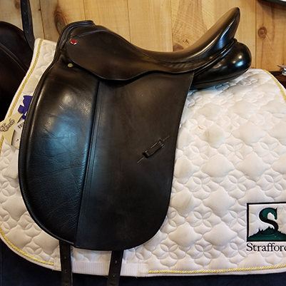 "Albion Performance SLK Dressage Saddle-17""-Medium-Black"