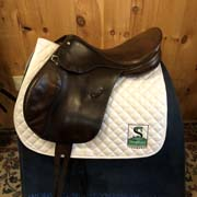 "Throughbred Lucindia Green Cross Country Saddle-17""-Medium-Brown"
