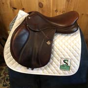 "Bates Elevation Jump Saddle-17.5""-Adjustable-Brown"