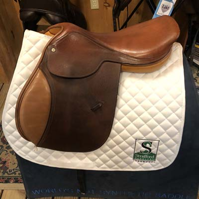 "Beval World Cup Jump Saddle-18""-Narrow-Brown"