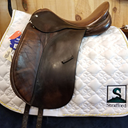 "Crosby Prix St. George Dressage Saddle-17.5""-Medium-Brown"