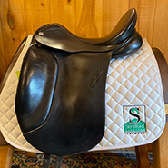 "Barnsby N-Gage Dressage Saddle-18""-MediumWide-Black"