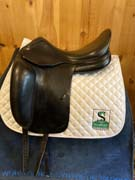 "Amerigo Dressage Saddle-18""-+1.5-Black"