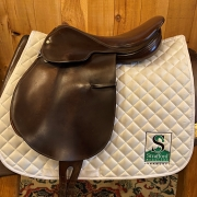 "Thoroughbred Lucinda Green Close Contact Saddle-17""-Medium-Brown"