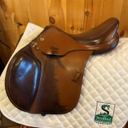 "Prestige Eventing Jump Saddle-16.5""-MediumWide-Brown"