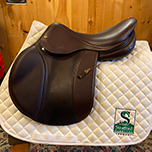 "Equipe Evolution Jump Saddle-17.5""-+1P+1W-Brown"