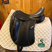 "Equipe Viktoria Dressage Saddle-16.5""-M Panel +1 Tree-Black"