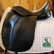 "Hulsebos Zadels Dressage Saddle-17.5""-Medium-Black"