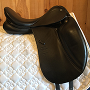 "Stubben Aramis Dressage Saddle 28cm 17.5"" Black (Used)"