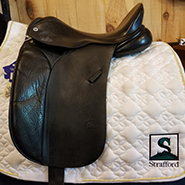 "Cliff Barnsby Crown Dressage Saddle-17""-Medium-Black"