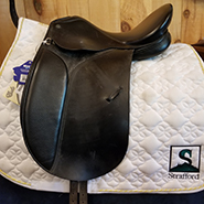 "Collegiate Dressage Saddle-16.5""-MediumNarrow-Black"